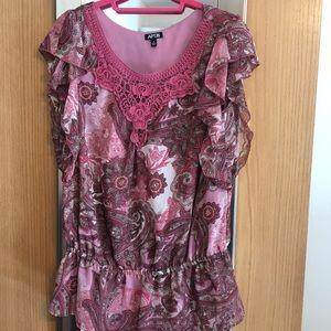 Apt. 9 pink feminine blouse size M